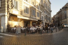 Bar in Rome Royalty Free Stock Photo