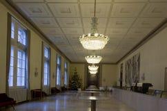 Bar room of Vienna Opera house in Vienna, nobody around Stock Photo