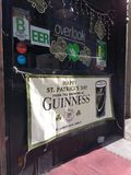 Bar, Saint Patrick`s Day Sign, NYC, NY, USA. It`s two days before St. Patrick`s Day and this restaurant in Midtown Manhattan is ready! This photo was taken in Stock Photography