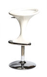 Bar seat. White bar seat isolated at the white background Stock Image