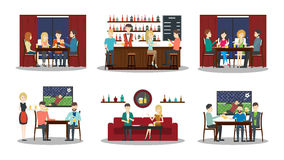 Bar set. Royalty Free Stock Photos