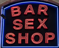 Bar Sex Shop Royalty Free Stock Photos