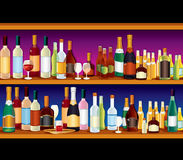 Bar Shelves Stock Photography