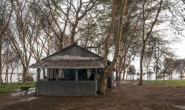 Bar on the shore of a lake Royalty Free Stock Images