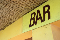 Bar sign Royalty Free Stock Photography