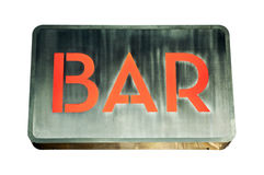 Bar sign Stock Image