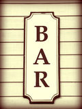 Bar Sign Royalty Free Stock Images