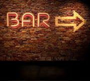 Bar sign royalty free stock photo
