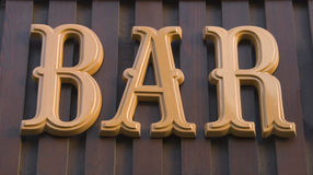 Bar sign for background Royalty Free Stock Images