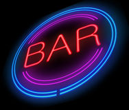 Bar sign. Stock Images