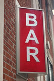 Bar Sign Stock Photography