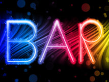 Bar Sign Waves on Black Background Stock Photos