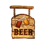 Bar Sign On Wooden Board Stock Photos