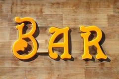 Bar Sign Stock Photography