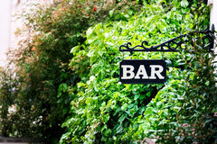 Bar signboard Stock Photo