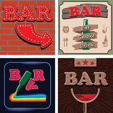 Bar signs Royalty Free Stock Photo