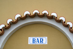 Bar sing in Portugal Royalty Free Stock Photography