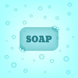 Bar of soap. A bar of soap with bubbles. Vector illustration vector illustration