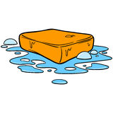 Bar of Soap. Cartoon illustration of  a Bar of Soap Stock Image