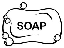 Bar soap. Close up bar of soap with foam Royalty Free Stock Photos