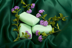 Bar Soap on Satin Royalty Free Stock Photography