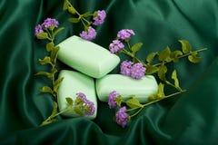 Bar Soap on Satin Royalty Free Stock Photography