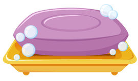 Bar of soap on the tray. Illustration vector illustration