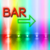 Bar Spotlight Shows Traditional Pub And Beam Stock Photography