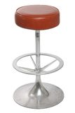 Bar stool. Old bar stool on a white background Royalty Free Stock Photos