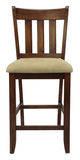 Bar Stool. Antique Maple Bar Stool with Padded Seat Royalty Free Stock Photos