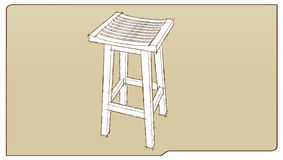 Bar stool II Royalty Free Stock Photography