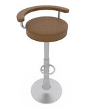 Bar Stool isolated on white Stock Image