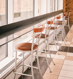 Bar stool. S in a  diner Royalty Free Stock Image