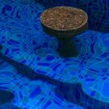 Bar stool under water stock photos