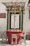 Bar stools at outdoor place Royalty Free Stock Image