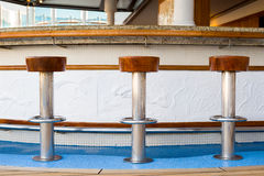 Bar Stools at Sea Stock Photos