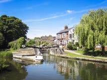 Bar storslagen facklig kanal berkhamsted hertfordshire Arkivfoto
