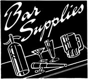 Bar Supplies Stock Image