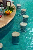 Bar in a swimming-pool Royalty Free Stock Image