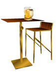 Bar table with beer Royalty Free Stock Image
