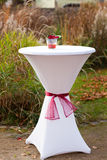 Bar table decorated for outdoor wedding Royalty Free Stock Photography