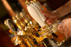 Bar tap of the beer. Tap of the beer in bar Stock Image