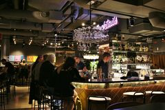 The bar Tap Room Kungsholmen Royalty Free Stock Images