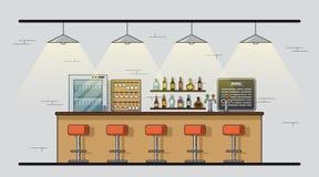 Bar tegenbeeld Stock Afbeelding