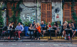 Bar in Tel Aviv Stock Afbeelding