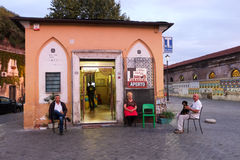 Bar and tobacco shop in Rome. Typical bar and tobacco shop in Rome Stock Photography