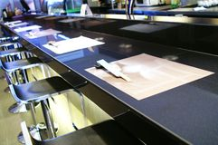 Bar Top. Photo of bar top taken at famous restaurant with chopstick on the table Stock Images