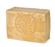 Bar of traditional Aleppo soap Stock Photos