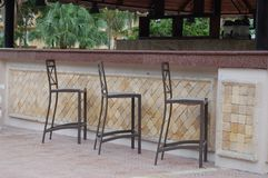 Empty Tropical Resort Bar Royalty Free Stock Image