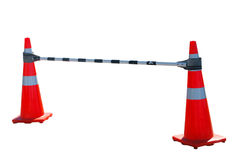 Bar between Two Road Cones Royalty Free Stock Image
